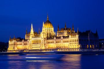 Parliament of Budapest  at  night, Hungary