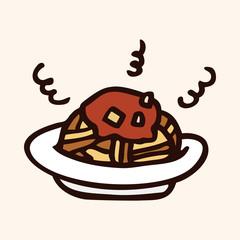 fast food spaghetti flat icon elements,eps10