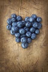 Heart from blackberries
