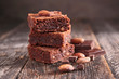 canvas print picture - chocolate brownie