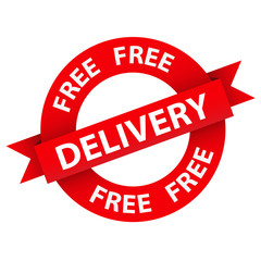 """FREE DELIVERY"" Marketing Stamp (home express service shipping)"