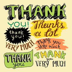 thank you- hand lettering