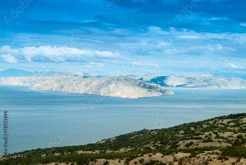 canvas print picture Kahle Insel in Kroatien