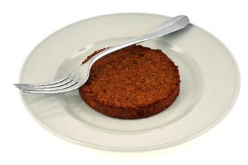 Steak de soja dans une assiette