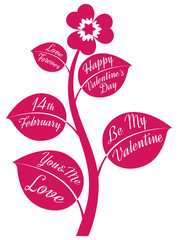 valentines day symbol with text