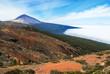 Vulkan Teide mit Lavagestein und Wolken auf Teneriffa