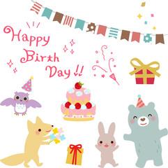 動物たちの誕生日会