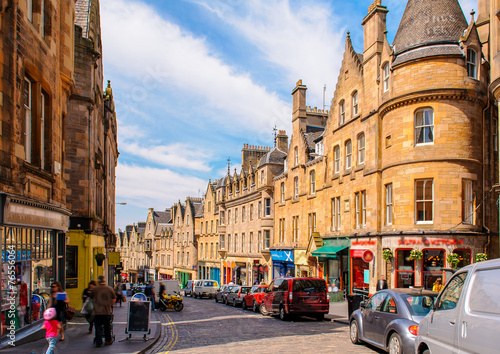 Foto op Aluminium Noord Europa street view of Edinburgh, Scotland, UK