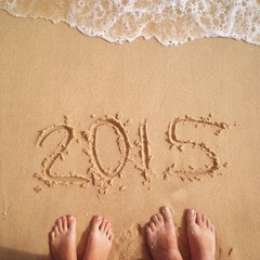 2015 on sand at the beach