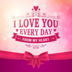 Valentine's Day and wedding romantic heart background