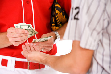 Baseball: Players Exchanging Money In Bet Or Bribe