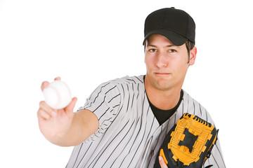 Baseball: Player Throwing The Ball