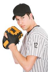 Baseball: Player About to Pitch Ball