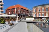 Fototapety Platz mit Wasserspielen in Swinemünde