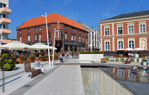 Platz mit Wasserspielen in Swinemünde - 76559049