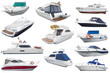boats isolated on white background - 76559227