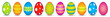 10 colourful easter eggs - 76559275