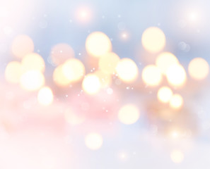 Holiday abstract glowing blurred background, bokeh