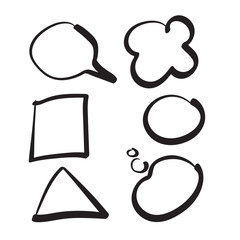 Hand drawn vector simple design elements