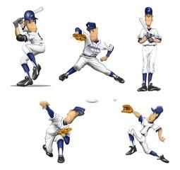長身の野球選手イラスト