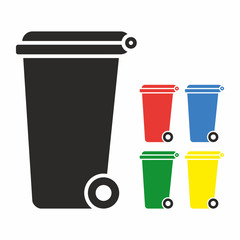 Vector Recycle Bin Trash and Garbage icon set