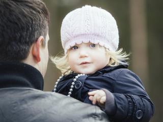 Little girl outdoors in Autumn