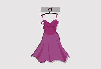 Woman dress fashion vector