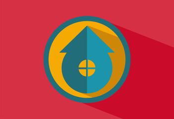 Flat home icon logo vector