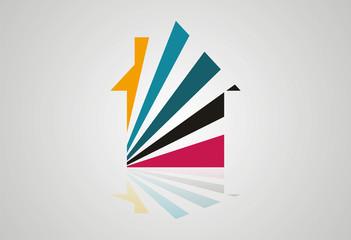 Home abstract logo vector