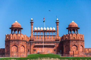 Red Fort in Delhi, India.