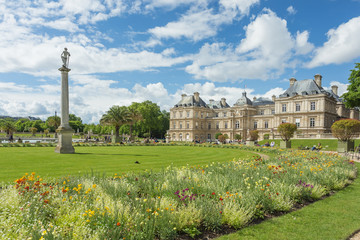 The Luxembourg Palace in The Jardin du Luxembourg