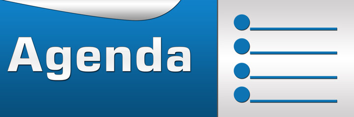 Agenda Blue Horizontal