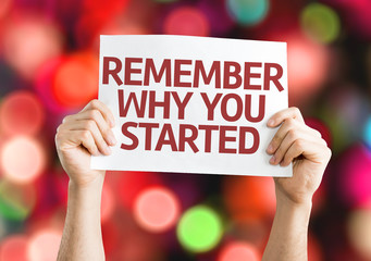 Remember Why You Started card with colorful background