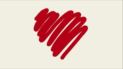 hand drawing hearts animation