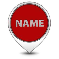 Name pointer icon on white background