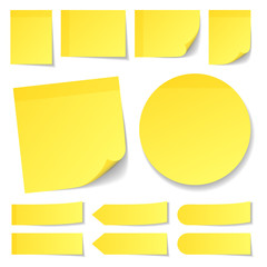 Color Yellow Stick Notes Collection Round