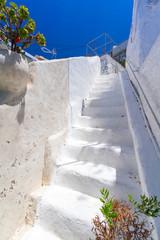 White architecture details of Santorini island in Greece