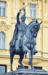 Ban Jelacic statue in Zagreb