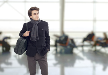 The man waiting at airport