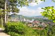 Leinwanddruck Bild - Blick auf Jena / Thüringen