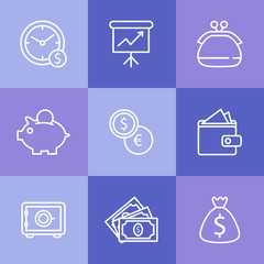 Business icons set.Vector illustration