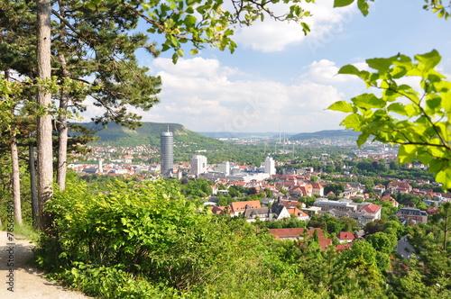 Leinwanddruck Bild Blick auf Jena / Thüringen