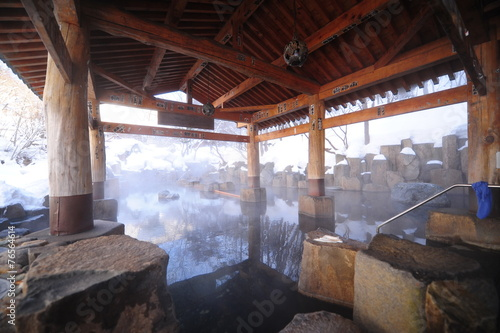 canvas print picture Japanese Onsen Bath