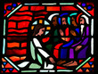 Jesus washing the feet of Saint Peter on Maundy Thursday