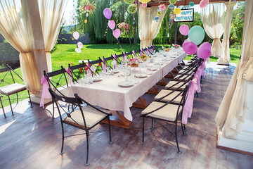 Beautifully organized event - served festive table