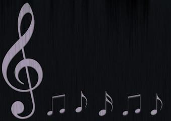 Musiknoten Notenschlüssel