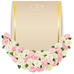 Vector Wedding Flower Card