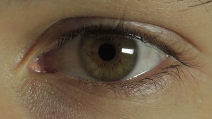 Closeup of boy eye - young man