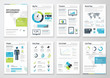 Infographic brochures for business data visualization - 76566089