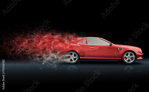Red sport coupe